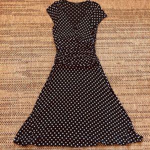 BCBG MaxAzria S/S Polka Dot Midi Dress Size XS